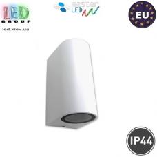 Светильник/корпус master LED, IP44, накладной, фасадный, алюминий + закалённое стекло, белый, 2хGU10, Luna Duo. Польша!
