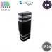 Светильник/корпус master LED, IP54, фасадный, алюминий + закалённое стекло, квадратный, чёрный, 2хGU10, Inez. ЕВРОПА!