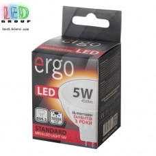 LED лампа ERGO Standard MR16 GU5.3 5W 220V 3000K Теплый белый