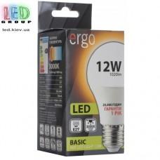 LED лампа ERGO Basic A60 E27 12W 220V 3000K Теплый белый