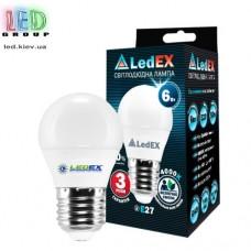 Cветодиодная лампа LEDEX G45 E27 6W (3000К)