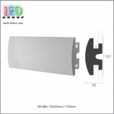 Профиль TESORI из экструдированного пенополистерола под покраску для светодиодных лент, KD 306