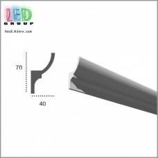 Профиль TESORI из полиуретана под покраску для светодиодных лент, KF 701