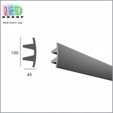 Профиль TESORI из полиуретана под покраску для светодиодных лент, KF 503
