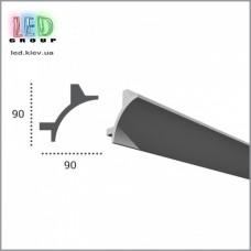 Профиль TESORI из полиуретана под покраску для светодиодных лент, KF 703