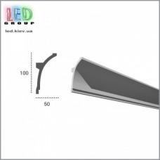 Профиль TESORI из полиуретана под покраску для светодиодных лент, KF 704