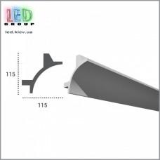 Профиль TESORI из полиуретана под покраску для светодиодных лент, KF 706