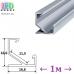 Профиль алюминиевый угловой АНОДИРОВАННЫЙ для светодиодной ленты, ЛПУ-7, 16.6х16.6мм (1 метр)
