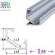 Профиль алюминиевый угловой АНОДИРОВАННЫЙ для светодиодной ленты, ЛПУ-17, 16.6х16.6мм (1 метр)