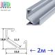 Профиль алюминиевый угловой АНОДИРОВАННЫЙ для светодиодной ленты, ЛПУ-17, 16.6х16.6мм (2 метра)