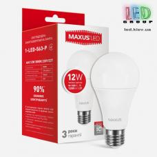 LED ЛАМПА MAXUS A65 12W ТЕПЛЫЙ СВЕТ E27 (1-LED-563-P)