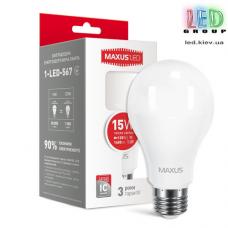 LED лампа MAXUS A70 15W 3000K 220V E27 (1-LED-567)