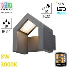 Настенный LED светильник SLV, 8W, 3000K, антрацит,  RASCALI WL. Германия