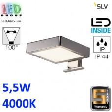 Настенный LED светильник SLV 5,5W, 4000K DORISA rectangular, хром. Германия!