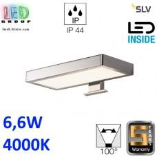 Настенный LED светильник SLV 6,6W, 4000K DORISA square, хром. Германия! Гарантия 5 лет!!!