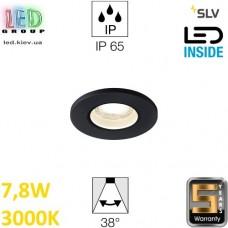 Потолочный LED светильник SLV 7,8W, 3000K, KAMUELA, противопожарный, чёрный. Германия!