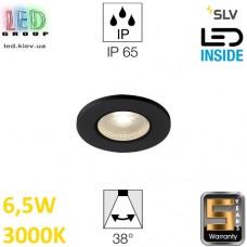 Потолочный LED светильник SLV 6,5W, 3000K, KAMUELA, противопожарный, чёрный. Германия!