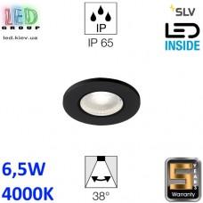 Потолочный LED светильник SLV 6,5W, 4000K, KAMUELA, противопожарный, чёрный. Германия! Гарантия 5 лет!!!