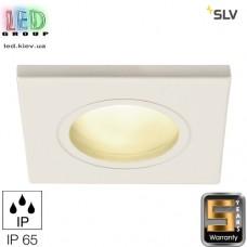 Светильник/корпус SLV, потолочный, алюминий/стекло, IP65, квадрат, белый, 1xGU5.3, DOLIX OUT QR-C51. Германия!