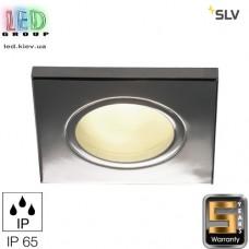 Светильник/корпус SLV, потолочный, алюминий/стекло, IP65, квадрат, хром, DOLIX OUT QR-C51. Германия! Гарантия 5 лет!!!