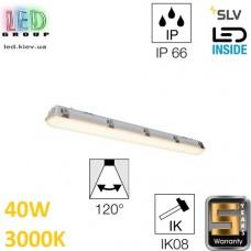 Настенный/потолочный LED светильник SLV 40W, 3000K, IMPERVA 120 CW, серый. Германия!