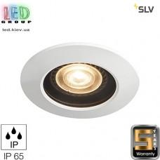 Светильник/корпус SLV, потолочный, алюминий/стекло, IP65, круглый, чёрный/белый, VARU QPAR51 DL. Германия! Гарантия 5 лет!!!