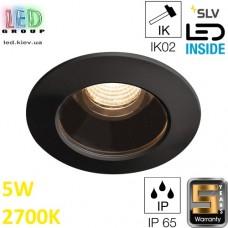 Потолочный LED светильник SLV 5W, 2700K, VARU DL, чёрный. Германия! Гарантия 5 лет!!!