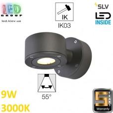 Настенный LED светильник SLV 9W, 3000K, антрацит, SITRA WL. Германия!