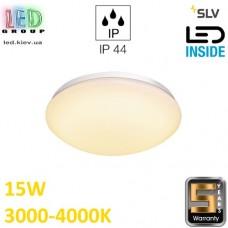 Настенный/потолочный LED светильник SLV, 15W, 3000K/4000К, LIPSY 30 DOME, белый. Германия!