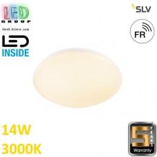 Настенный/потолочный LED светильник SLV, 14W, 3000K, LIPSY 30 VALETO®, белый. Германия