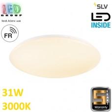 Настенный/потолочный LED светильник SLV 31W, 3000K LIPSY 50 VALETO®, белый. Германия!