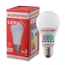 Светодиодная лампа ECONOMKA, А60, LED, 12W, Е27, 2800К