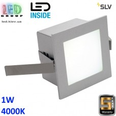 Настенный/потолочный LED светильник SLV 1W, 4000K, FRAME BASIC, квадрат, серебристый. Германия!