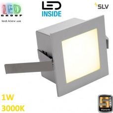 Настенный/потолочный LED светильник SLV 1W, 3000K, FRAME BASIC, квадрат, серебристый. Германия! Гарантия 5 лет!!!