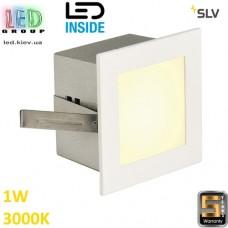 Настенный/потолочный LED светильник SLV 1W, 3000K, FRAME BASIC, квадрат, белый матовый. Германия! Гарантия 5 лет!!!