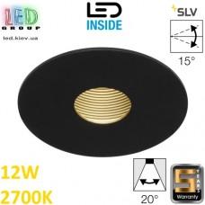 Потолочный LED светильник SLV 12W, 2700K, H-LIGHT 1, чёрный матовый. Германия!