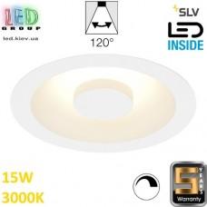 Потолочный LED светильник SLV 15W, 3000K, OCCULDAS 14, диммируемый, белый. Германия! Гарантия 5 лет!!!