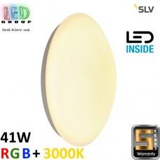 Настенный/потолочный LED светильник SLV, 41W, RGB + 3000K, LIPSY 36 M CONTROL, белый. Германия