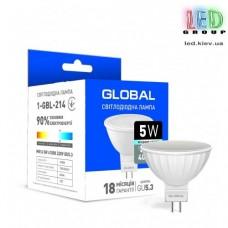 LED лампа GLOBAL MR16 5W ЯРКИЙ СВЕТ GU5.3 (1-GBL-214)