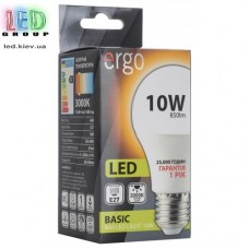 LED лампа ERGO Basic A60 E27 10W 220V 3000K Теплый белый