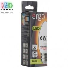 LED лампа ERGO Basic C37 E27 6W 220V 3000K Теплый белый