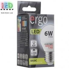 LED лампа ERGO Basic G45 E27 6W 220V 4100K Нейтральный белый