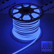 Светодиодный гибкий неон 220V, LED NEON - 17x9мм, цвет свечения - синий