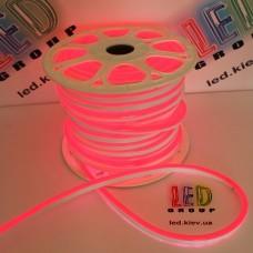 Светодиодный гибкий неон 220V, LED NEON - 17x9мм, цвет свечения - красный