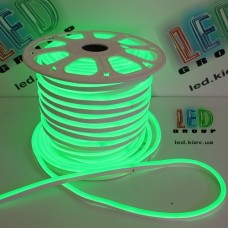Светодиодный гибкий неон 220V, LED NEON - 17x9мм, цвет свечения - зелёный