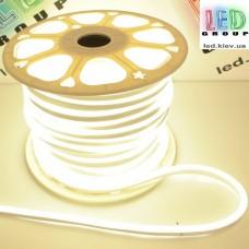 Светодиодный гибкий неон 220V, LED NEON - 17x9мм, цвет свечения - белый
