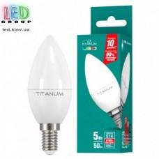 LED лампа TITANUM C37 5W E14 4100K 220V