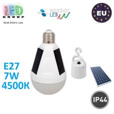 Светодиодная лампа на солнечной батарее с кнопкой-выключателем, master LED, 7W, E27, 4500К – нейтральное свечение. ЕВРОПА!