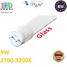 Светодиодная лампа T8/G13, master LED, 9W, 60см, 2700-3200К, тёплый свет, двусторонняя, стекло. ЕВРОПА!