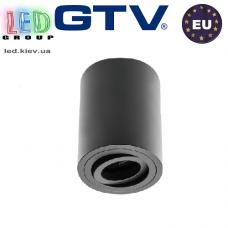Светильник/корпус GTV, потолочный, регулируемый, алюминий, IP20, круглый, чёрный, SENSA. Польша!